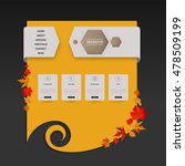 website template with autumn...