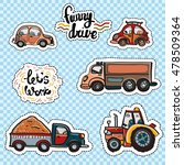 set of cartoon patches... | Shutterstock .eps vector #478509364