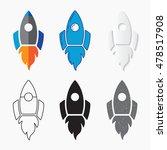 rocket ship icon  vector set.... | Shutterstock .eps vector #478517908