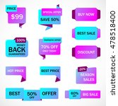 vector stickers  price tag ... | Shutterstock .eps vector #478518400