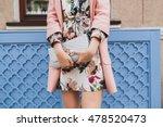 young beautiful stylish woman... | Shutterstock . vector #478520473