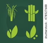 sugar cane flat icons set... | Shutterstock .eps vector #478527688