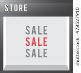 shop front vector store... | Shutterstock .eps vector #478527910