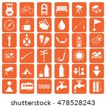 set of camping equipment icons. ... | Shutterstock .eps vector #478528243