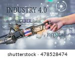 industry 4.0  robot and... | Shutterstock . vector #478528474