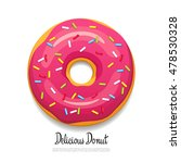 bright delicious donut. vector... | Shutterstock .eps vector #478530328