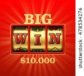big win in slot machine casino...   Shutterstock .eps vector #478534276