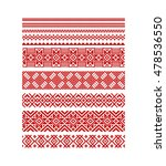 Vector Seamless Stripe Red...