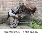 Homeless Man Out On The Street...