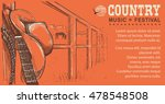 western country music... | Shutterstock .eps vector #478548508