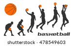 Set Different Poses Basketball...