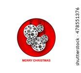 christmas balls layout design...   Shutterstock .eps vector #478551376