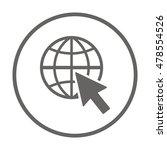 website  icon vector. flat... | Shutterstock .eps vector #478554526