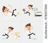 set of careless business man... | Shutterstock .eps vector #478557004