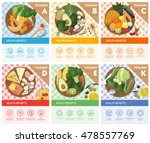 vitamin food sources and health ... | Shutterstock .eps vector #478557769