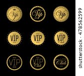 vip badge or labels. golden... | Shutterstock .eps vector #478562599