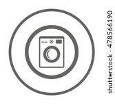 washing machine icon vector....