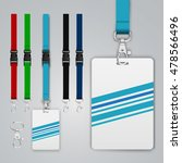 set of lanyards and badges.... | Shutterstock .eps vector #478566496