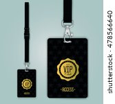 set of lanyard and badge.... | Shutterstock .eps vector #478566640