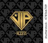 vip diamond logo. golden color. ... | Shutterstock .eps vector #478566709