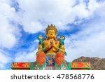 a statue of maitreya buddha at...   Shutterstock . vector #478568776
