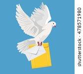 Postal Dove  Pigeon  Vector...