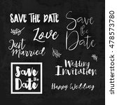 save the date hand lettering... | Shutterstock .eps vector #478573780