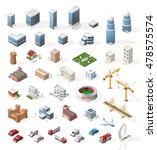 set of realistic isometric high ... | Shutterstock .eps vector #478575574