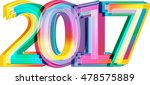 happy new year 2017 calendar... | Shutterstock .eps vector #478575889