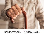 old man hand holding walking... | Shutterstock . vector #478576633