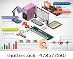 illustration of info graphic... | Shutterstock .eps vector #478577260