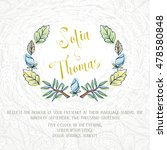 wedding invitation card with... | Shutterstock .eps vector #478580848