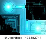 a geometric object on a black... | Shutterstock .eps vector #478582744