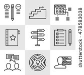 set of project management icons ...   Shutterstock .eps vector #478583038