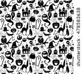 illustration black and white... | Shutterstock . vector #478583638