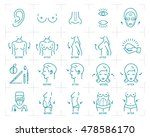 plastic surgery line icons ... | Shutterstock .eps vector #478586170