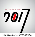 happy new year 2017 calendar... | Shutterstock .eps vector #478589554