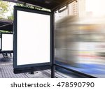 mock up billboard media light... | Shutterstock . vector #478590790
