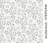 flat monochrome vector seamless ... | Shutterstock .eps vector #478591948