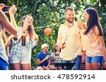 group of friends making... | Shutterstock . vector #478592914