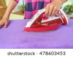 the woman to iron the clothes... | Shutterstock . vector #478603453