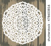 ornamental round pattern with...   Shutterstock .eps vector #478603816