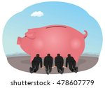 group of businessmen feeding... | Shutterstock .eps vector #478607779