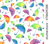 seamless pattern with fresh... | Shutterstock . vector #478609288