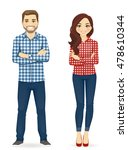 young people in casual clothes. ... | Shutterstock .eps vector #478610344