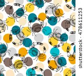 seamless pattern with stylized... | Shutterstock .eps vector #478611253