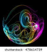 moving colorful lines of... | Shutterstock .eps vector #478614739