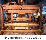 jacquard loom is a power loom...   Shutterstock . vector #478617178