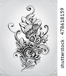 abstract bouquet in the ornament | Shutterstock .eps vector #478618159