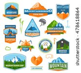 set of colorful mountaineering  ... | Shutterstock .eps vector #478618864